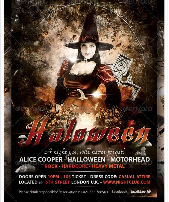 elegant-halloween-party-flyer-template Halloween Party Flyer - halloween party flyer