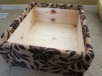 DIY Build Your Own Storage Ottoman FROM SCRATCH