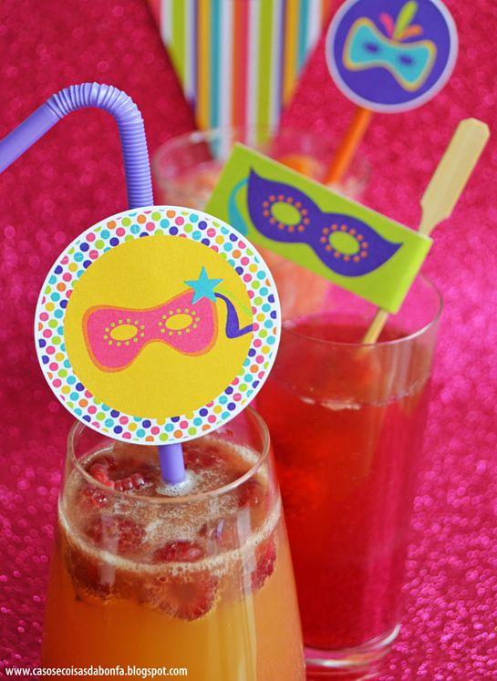 Casos e Coisas da Bonfa: Comidinhas e drinks para animar a sua festa de Carnaval + um presente no final do post