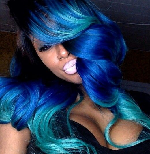 Mermaid Ombre Colored Hair Pinterest Mermaids And Ombre