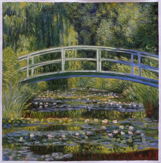 The Water-Lily Pond 18 by Claude Monet➕Claude Monet ➕More Pins Like This At FOSTERGINGER @ Pinterest ➕: