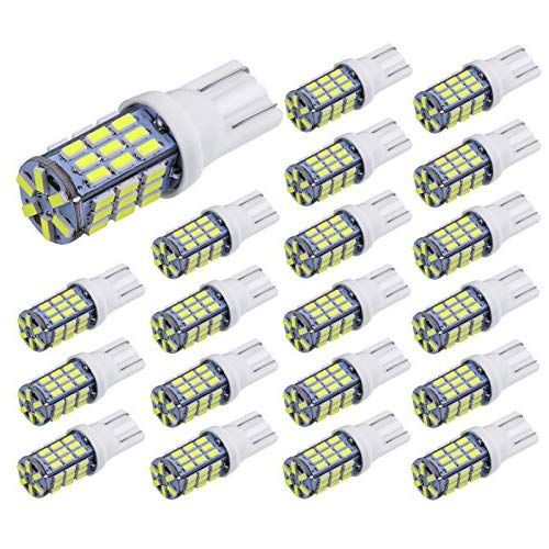 2 x Super Bright T10 921 6000k White Car RV Wedge 18SMD LED Light Bulb 12v