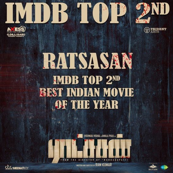 Ratchasan- The runner up in Imdb's best Indian movies of 2018