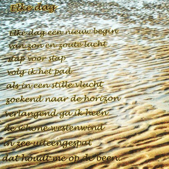 Gedicht in het zand