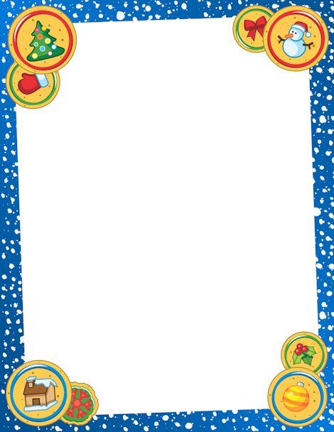 Printable christmas cookie border free gif jpg pdf and png