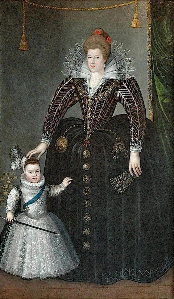 1603 Maria de Medici with little Louis XIII by Charles Martin (Musée des Beaux-arts, Blois France)