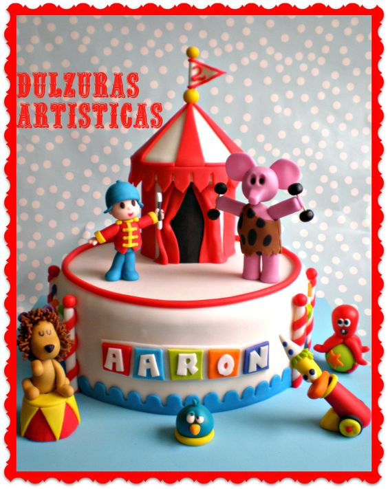 U0026quot Tarta Pocoyo U0026quot  Y Sus Amigos En El Circo Espacial - Dulzuras Art U00edsticas
