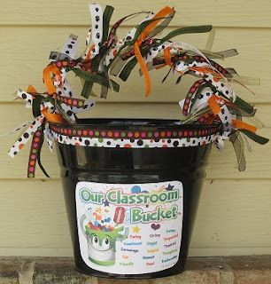 """Cute bucket idea to go with the book, """"have you filled a bucket today?"""""""