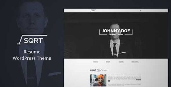 Download and review of WordPress Resume Theme - Squareroot, one of - wordpress resume themes