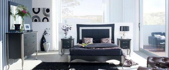 Dormitorio clásico negro Levan de Ámbar Muebles.