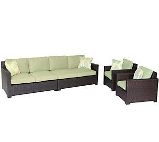 Hanover Outdoor Metropolitan 4-Piece Lounge Set