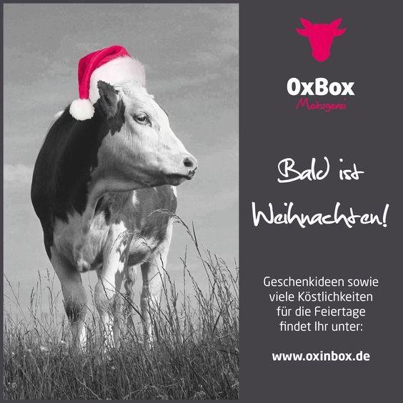 Nur noch 22 Tage bis WEIHNACHTEN!!! Geschenkideen sowie viele Köstlichkeiten für die Feiertage findet Ihr unter: http://www.oxinbox.de/