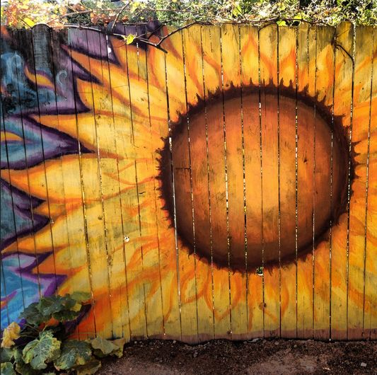 Fence Art - 25 pieces of art using a backyard fence as the canvas | 100 Things 2 Do