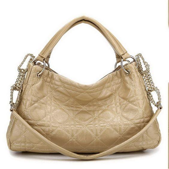 Damentaschen Schultertaschen Handtaschen Tasche Kunst Leder Beige A100036