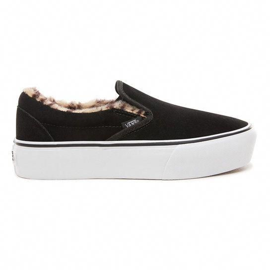 Vans slip on black, Womens shoes