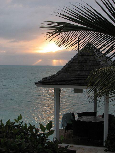 Caribbean sunset in Turks & Caicos Islands