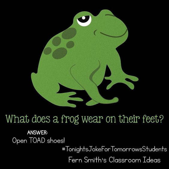 What does a frog wear on their feet?