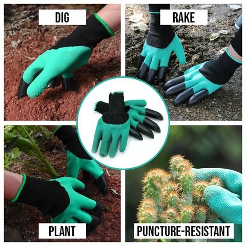 Gardening Gloves With Built In Claws