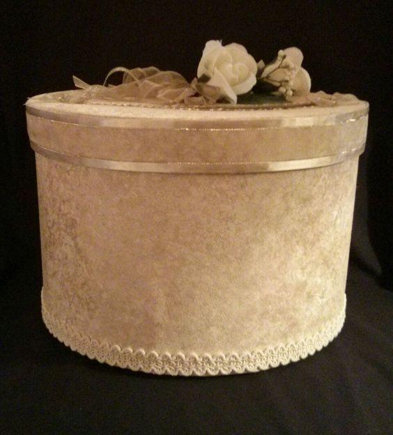Handmade Gold Wedding Reception Card Box Ivory Roses – Box for Cards at Wedding Reception