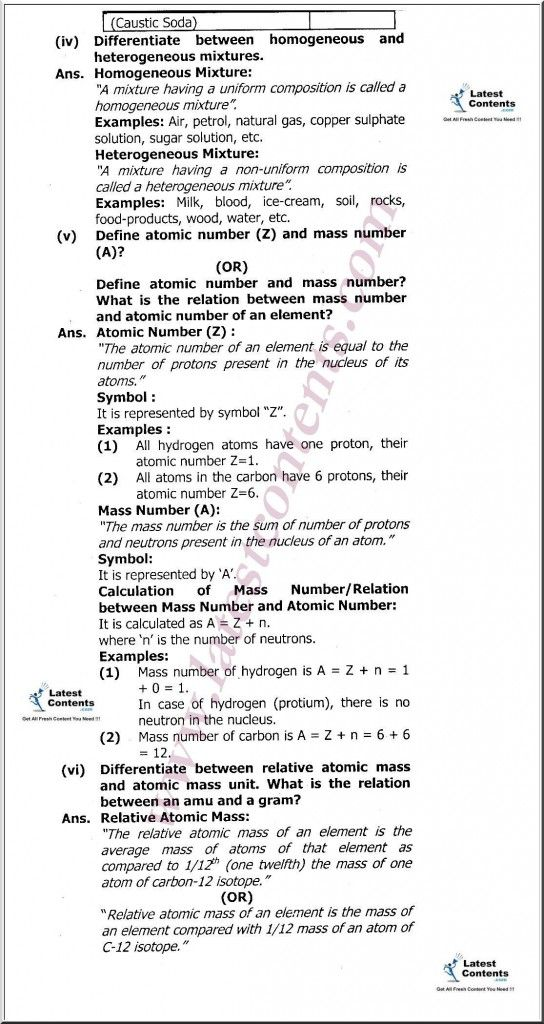 9th Class Chemistry Notes Unit 1 Fundamentals Of Chemistry Part 4 Chemistry Notes Chemistry Education Chemistry Class