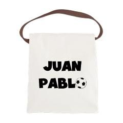 Juan Pablo Soccer Canvas Lunch Bag> Juan Pablo Soccer> peacockcards.com