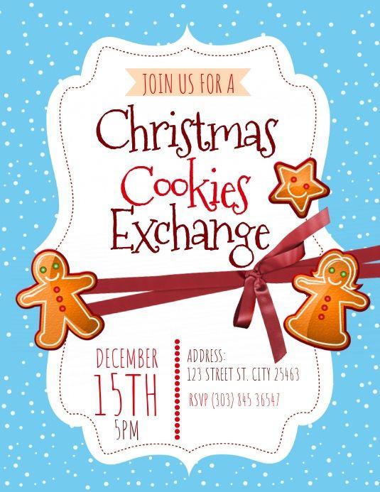 Christmas Cookies Exchange Flyer Christmas Cookie Exchange Christmas Cookies Christmas Templates