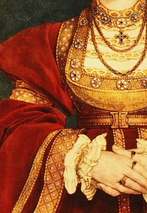 Anne of Cleves, by Hans Holbein the Younger (1498-1543) (detail)