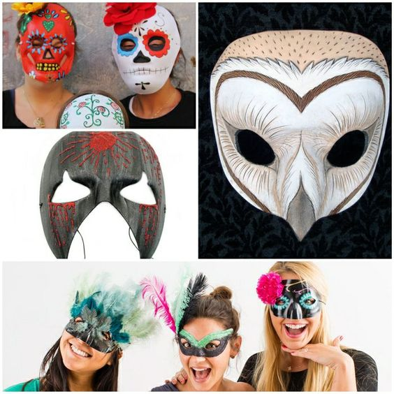 halloween basteln gruselige masken halloween masken basteln pinterest basteln und halloween. Black Bedroom Furniture Sets. Home Design Ideas