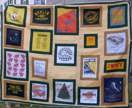 Making a quilt out of T-shirts - How to make a Tee Shirt quilt