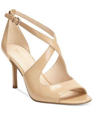 Nine West Gessabel Sandals Classy lower heel, nude color - nice ...