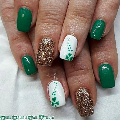 31 Best St Patrick S Day Nail Art Designs Fav Nail Art St Patricks Day Nails St Pattys Nails Saint Patrick Nail