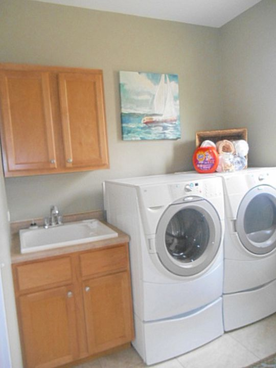 Staged Laundry Room In A Lake Home Home Home Appliances Room
