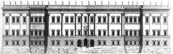 Bernini's scheme for the Louvre by Jean Marot