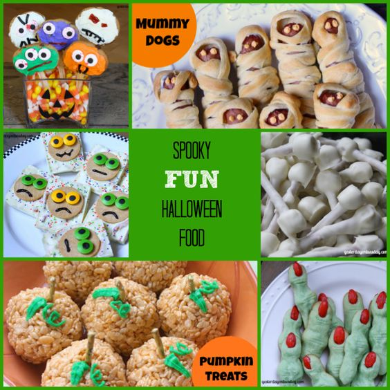 Fun Halloween Food, great for class parties and kids of all ages!