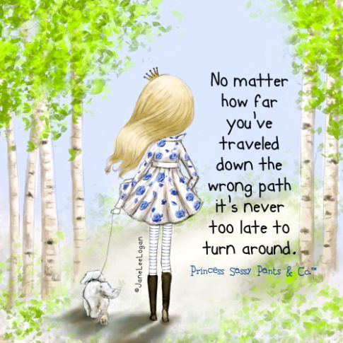 Never too late…