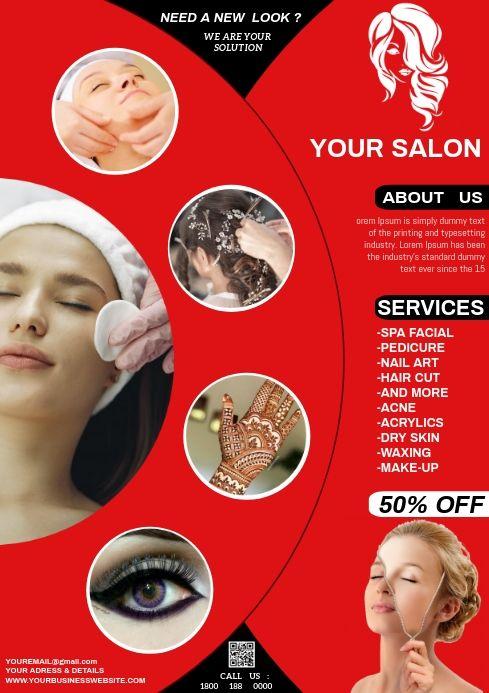 Beauty Salon Beauty Salon Fashion Poster Salons