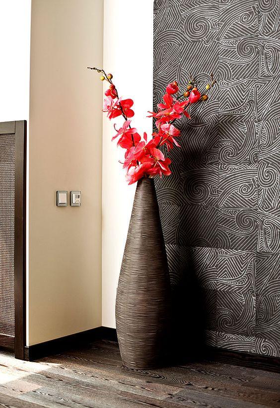 Bodenvasen als Dekoration machen auch so manche Ecke noch - deko ecke wohnzimmer