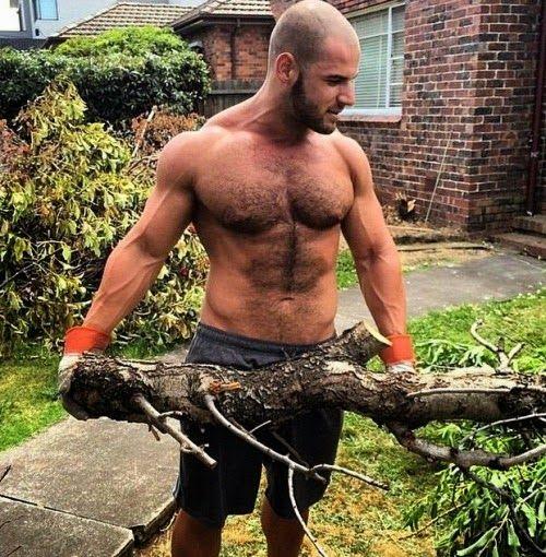 Man Does Yard Work Naked