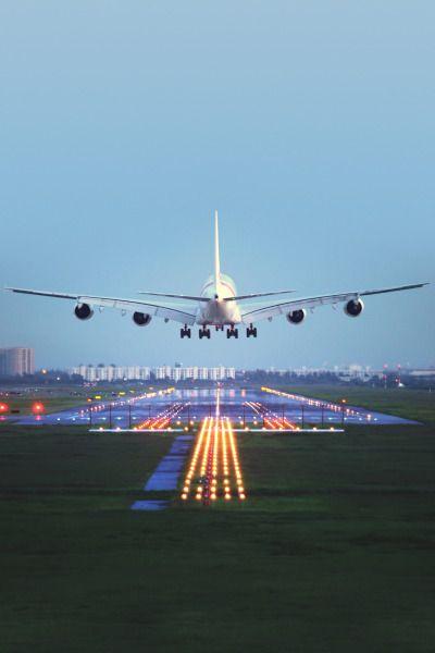 An Airbus A380 landing ...