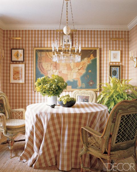 Maps are perfect for schoolhouse decor. Make one map the centerpiece.: