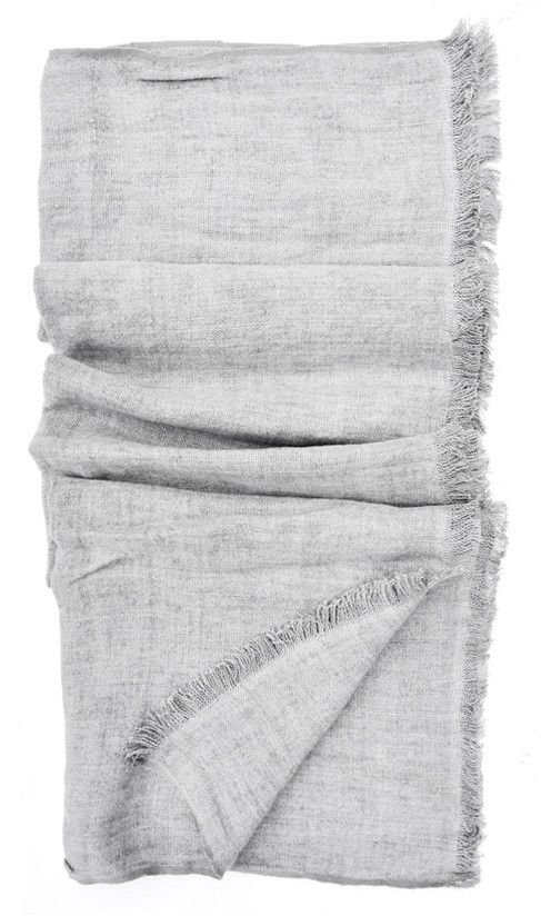 """In the softest hand-loomed linen, this lightweight throw adds a finishing touch to any room (it also makes a luxe picnic blanket).    -  Linen   -  50"""" x 60""""   -  Machine washLinen Throw"""