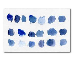Lienzo de impresión digital Bleu - 60x40cm