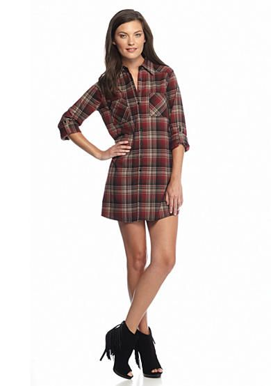 Jack by BB Dakota Stine Plaid Shirt Dress