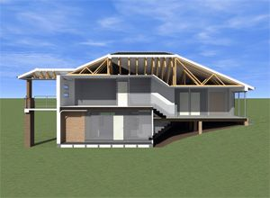 Split level home a two story home with a single story Side split house plans