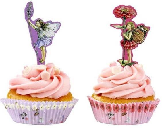 KidsPartyKitchen  Flower Fairy cake cases & toppers