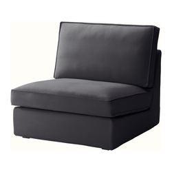 Viktigt fauteuil noir fauteuils gris et lampes hautes for Housse causeuse ikea