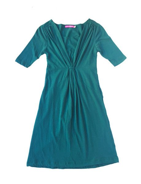 Gathered Neck Nursing Dress