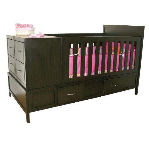ingenia muebles cama cuna lukas chocolate infantil  cuarto del bebe