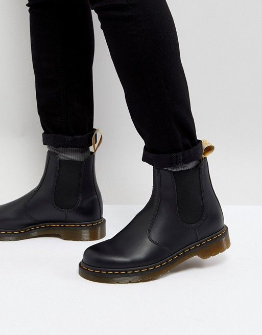 cozy fresh so cheap size 40 Dr Martens vegan 2976 chelsea boots in black smooth in 2019 ...