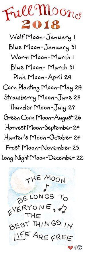 Full Moons  2018 39b0754f664e62f324508693d996f15c